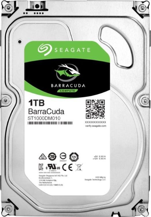 """HDD SEAGATE 1TB 7200 64M S-ATA3 pt. PC, """"Barracuda"""" """"ST1000DM010"""""""