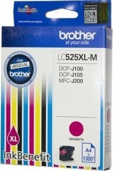 "Cartus Cerneala Original Brother Magenta, LC525XLM, pentru DCP-J100 J105 MFC-J200, 1.3K, incl.TV 0.11 RON, ""LC525XLM"""