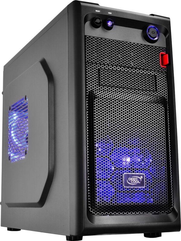 """CARCASA DEEP COOL, Mini Tower, mATX, """"SMARTER LED"""", fara sursa, 2 x fan, USB 2.0 x 1, USB 3.0 x 1, Jack 3.5mm x 2, """"DP-MATX-SMTRLED"""""""