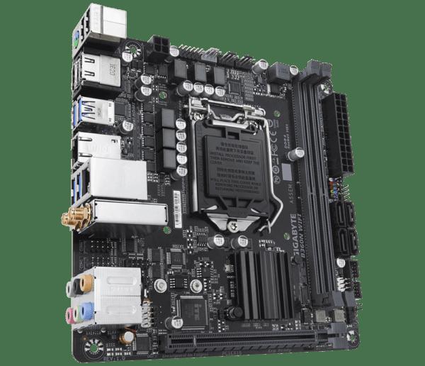 """PLACA de BAZA GIGABYTE B360N WIFI, skt LGA 1151, Intel B360, mini ITX, slot RAM 2 x DDR4, max 32 GB, 4x S-ATA 3, 1x M.2, nux PCI-E, PCI-E3.0x16 x 1, LAN 1000 Mbps, HDMI x 2, 7.1, """"B360N WIFI"""""""