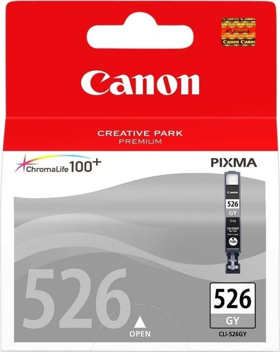 """Cartus Cerneala Original Canon Gray, CLI-526GY, pentru Pixma IP4850 IP4950 IX6550 MG5150 MG5250 MG5350 MG6150 MG6250 MG8150 MG8250 MX715 MX885 MX895 , , incl.TV 0.11 RON, """"BS4544B001AA"""""""