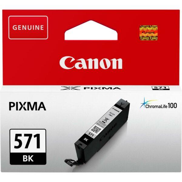 "Cartus Cerneala Original Canon Black, CLI-571B, pentru Pixma MG5750 MG5751 MG6850 MG6851 MG7750 MG7751 MG7752 TS5050 TS5051 TS5053 TS5055 TS6050 TS8050 TS9050 , 7ml, incl.TV 0.11 RON, ""BS0385C001AA"""