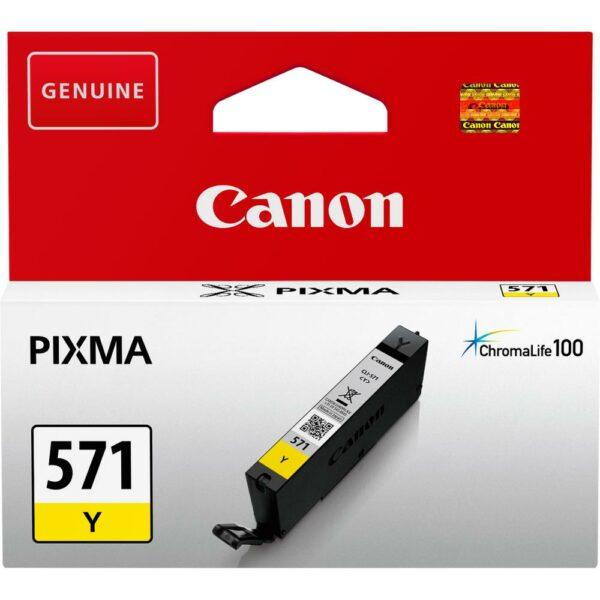 """Cartus Cerneala Original Canon Yellow, CLI-571Y, pentru Pixma MG5750 MG5751 MG6850 MG6851 MG7750 MG7751 MG7752 TS5050 TS5051 TS5053 TS5055 TS6050 TS8050 TS9050, , incl.TV 0.11 RON, """"BS0388C001AA"""""""