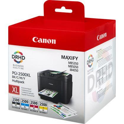 "Combo-Pack Original Canon CMYK, PGI-2500XLBK/C/M/Y, pentru Maxify IB4050|IB4150|MB5050|MB5150|MB5350|MB5450, , incl.TV 0.11 RON, ""BS9254B004AA"""