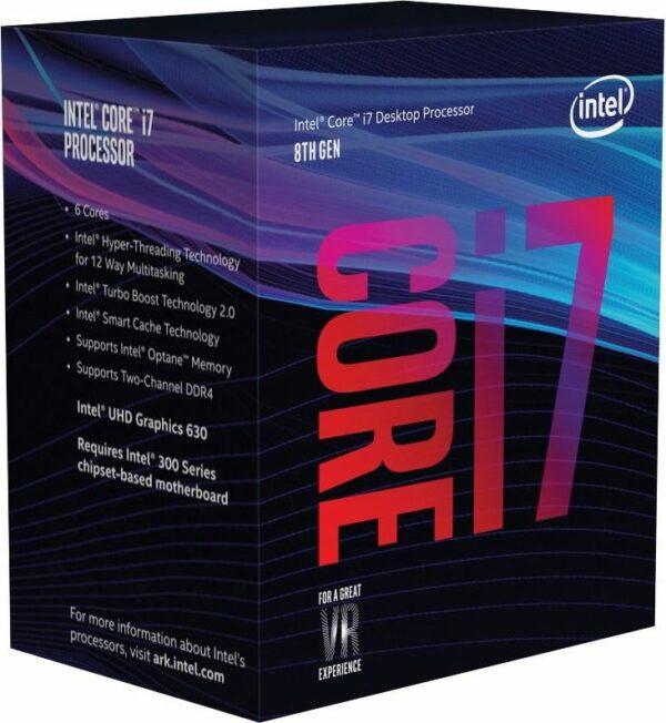 "CPU INTEL, skt. LGA 1151 Core i7, i7-8700K, frecventa 3.7 GHz, turbo 4.7 GHz, 6 nuclee, putere 95 W, ""BX80684I78700K"""
