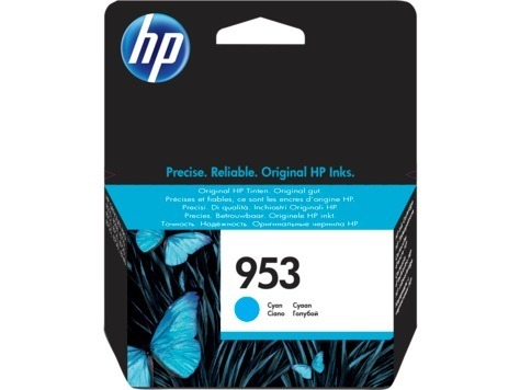 "Cartus Cerneala Original HP Cyan, nr.953, pentru OfficeJet Pro 7720|7730|7740|8210|8218|8710|8720|8730, , incl.TV 0.11 RON, ""F6U12AE"""