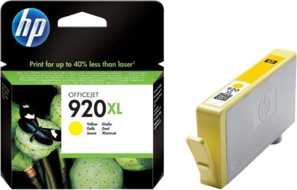 "Cartus Cerneala Original HP Yellow, nr.920XL, pentru OfficeJet 6000 6500 7000 7500, , incl.TV 0.11 RON, ""CD974AE"""