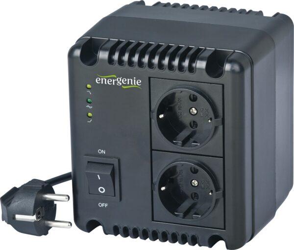 "AVR GEMBIRD 1000VA/ 600W, 2 x socket Schuko, indicatie status cu LED, sinusoida pura, ""EG-AVR-1001″i) (include TV 3 lei)"