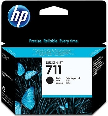 "Cartus Cerneala Original HP Black, nr.711, pentru DesignJet T120|T520, , incl.TV 0.11 RON, ""CZ133A"""