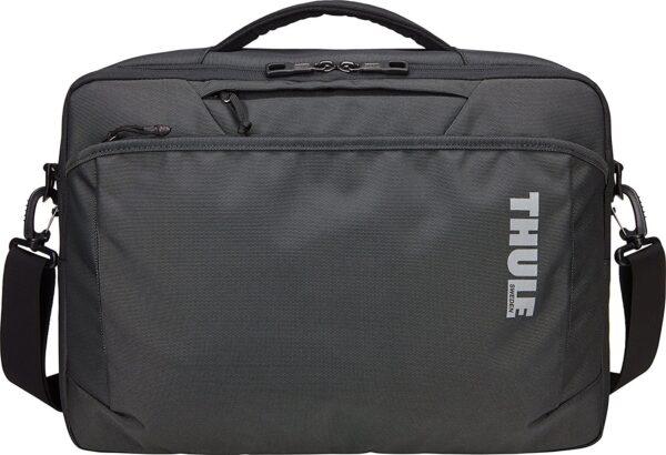 "GEANTA THULE, pt. notebook de max. 15.6 inch, 2 compartiment, buzunar frontal x 2   buzunar dorsal, waterproof, nylon, negru, ""TSSB-316 DARK SHADOW"""