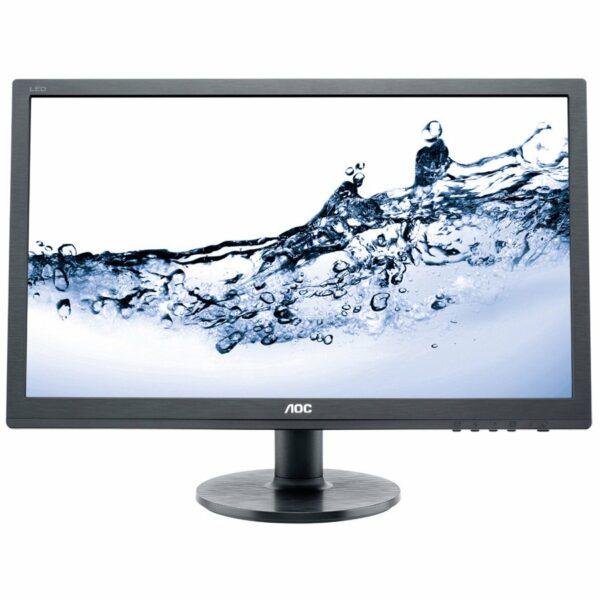 """MONITOR AOC 24″, home, office, TN, Full HD (1920 x 1080), Wide, 250 cd/mp, 1 ms, VGA, DVI, HDMI, """"E2460SH"""" (include TV 5 lei)"""