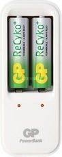 """INCARCATOR GP BATTERIES AA/AAA (R6/R3) NiMH, 2 sloturi, fara acumulatori, """"GPPB410GS-BL1"""""""