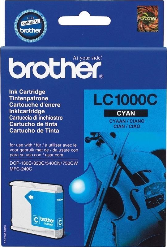 """Cartus Cerneala Original Brother Cyan, LC1000C, pentru DCP-130C 330C 540, 400, incl.TV 0.11 RON, """"LC1000C"""""""
