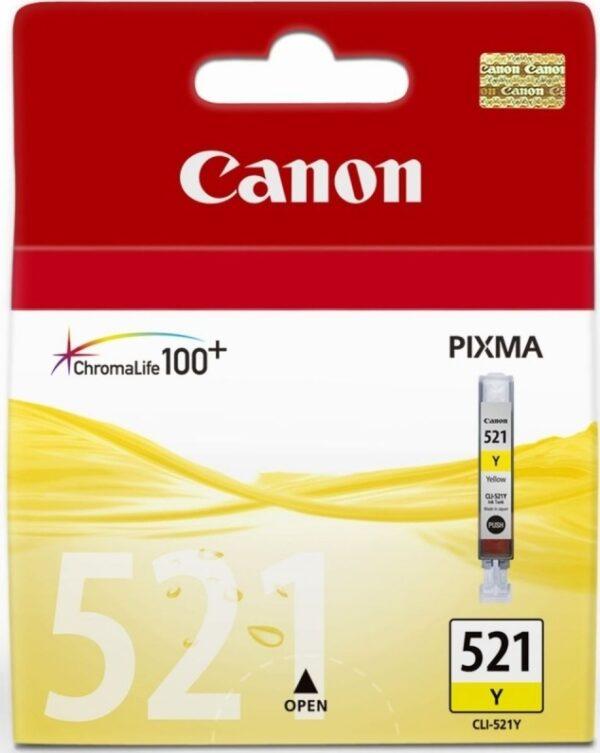 "Cartus Cerneala Original Canon Yellow, CLI-521Y, pentru iP3600 iP4600 MP540 MP620, , incl.TV 0.11 RON, ""BS2936B001AA"""