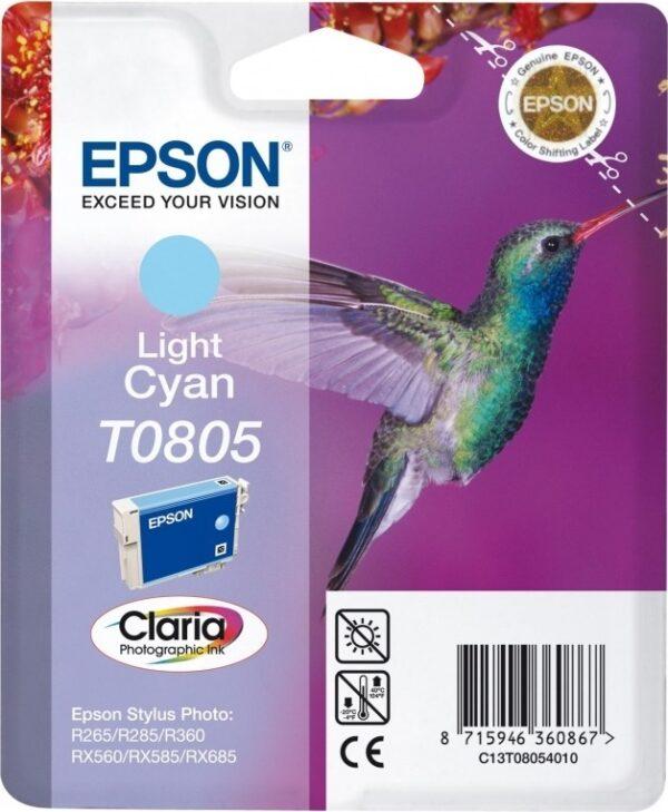 "Cartus Cerneala Original Epson Ph Cyan, T0805, pentru Stylus Photo R265|360|RX562, , incl.TV 0.11 RON, ""C13T08054011"""