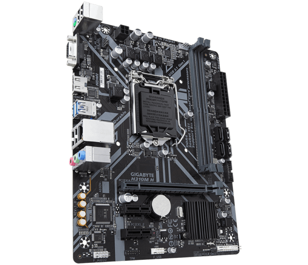 PLACA de BAZA GIGABYTE skt. LGA1151, H310M H, 2*DDR4 2666/2400/2133MHz memory modules, 1x D-sub/HDMI, 1x PCI Express x16 slot, 2x PCIe x1 Slot, 4x SATA 6Gb/s, LAN chip (10/100/1000), 4x USB 3.1 (2x front/ 2x back), 6x USB 2.0, mATX