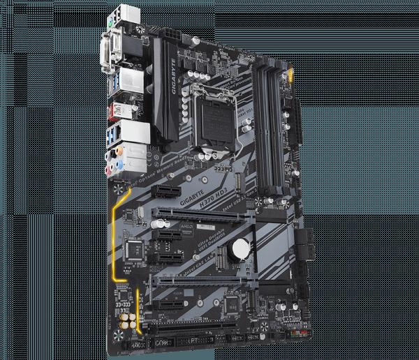 Placa de baza GIGABYTE skt. LGA1151, H370 HD3, 4*DDR4 2666/2400/2133MHz, 1x HDMI/DVI-D/D-Sub, 2x PCIe x16, 4x PCIe x1 Slot, 1x PCI slot, 6x SATA 6Gb/s, LAN 10/100/1000, 7x USB 3.1, 6x USB 2.0, ATX