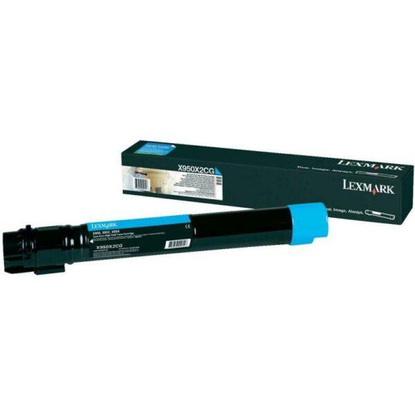 "Toner Original Lexmark Cyan, X950X2CG, pentru X950|X952|X954, 22K, incl.TV 0.8 RON, ""X950X2CG"""