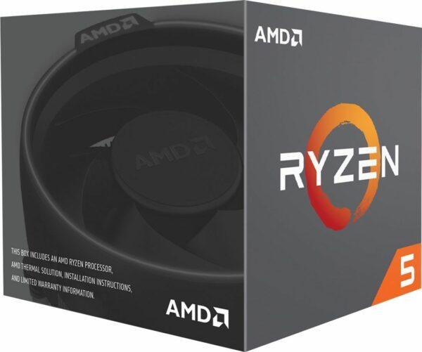 """CPU AMD, skt. AM4 AMD Ryzen 5, 2600X, frecventa 3.6 GHz, turbo 4.2 GHz, 6 nuclee, putere 95 W, cooler, """"YD260XBCAFBOX"""" (include TV 0.15 lei)"""