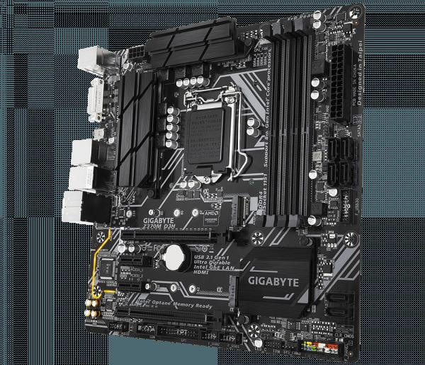 Placa de baza GIGABYTE skt. LGA1151, Z370M D3H, 4 * DDR4, 4000(O.C.) MHzs, 2* PCI Express x16, 2* PCI Express x1, 6* SATA 6Gb/s connectors, 8* USB 3.1, 4* USB 2.0/1.1, 1* DVI-D/HDMI, mATX