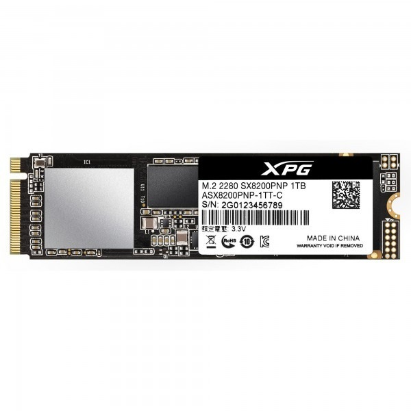 """SSD ADATA, XPG SX8200 Pro, 1 TB, M.2, PCIe Gen3.0 x4, 3D TLC Nand, R/W: 3500/3000 MB/s, """"ASX8200PNP-1TT-C"""""""