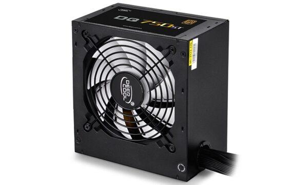"""SURSA DeepCool 750W (real), fan 120mm PWM, 80 Plus Gold, 87~90% eficienta, 4x PCI-E (6+2), 5x S-ATA """"DQ750ST"""", (include TV 1,5 lei)"""