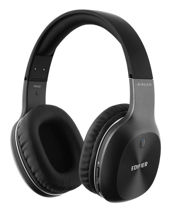 """CASTI Edifier, wireless, cu fir, standard, utilizare multimedia, smartphone, microfon pe casca, conectare prin Bluetooth 4.0, Jack 3.5 mm, negru, """"W800BT"""", (include TV 0.75 lei)"""