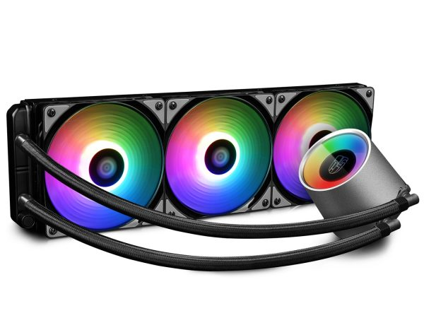 "COOLER DEEPCOOL, skt. universal, racire cu lichid, vent. 120 mm x 3, 1800 rpm, LED RGB ,""CASTLE 360 RGB"""