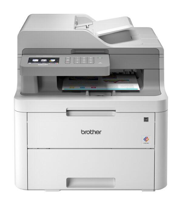 "Multifunctional Laser Color BROTHER DCP-L3550CD, A4, Functii: Impr. Scan. Cop., Viteza de Printare Monocrom: 18ppm, Viteza de printare color: 18ppm, Conectivitate:USB Ret WiFi, Duplex:Da, ADF:ADF(incl.TV 23RON) ""DCPL3550CDWYJ1"""