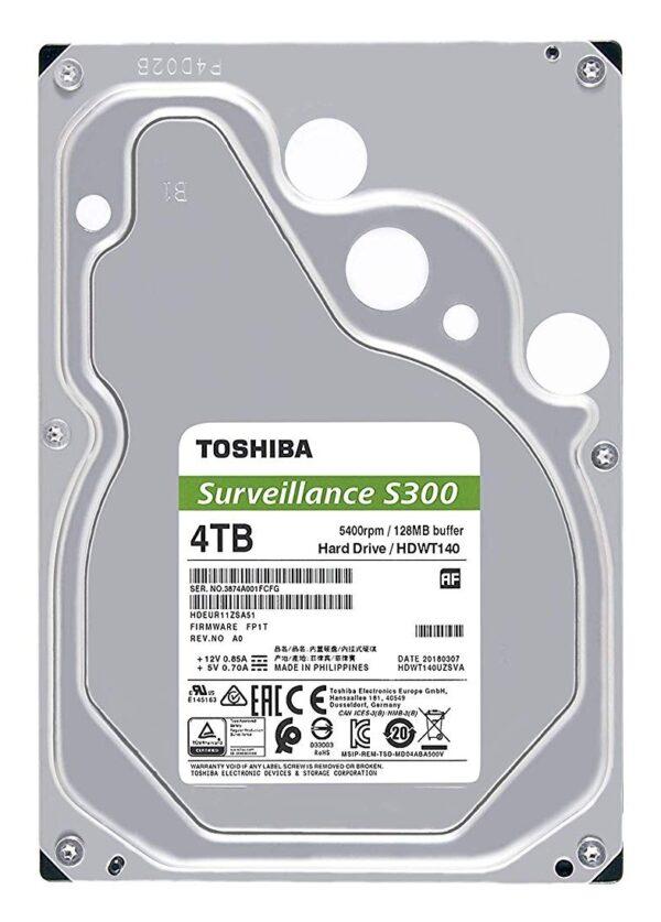 """HDD TOSHIBA 4 TB, S300, 5.400 rpm, buffer 128 MB, pt. supraveghere, """"HDWT140UZSVA"""""""