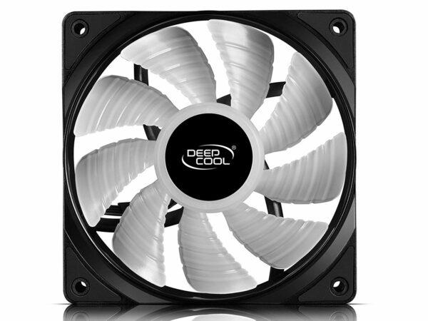 "VENTILATOR DEEPCOOL PC 120x120x25 mm, white LED, PWM, Fluid Dynamic Bearing, MTBF 100.000 ore, pale dual-layer detasabile, ""TF120 WHITE"""