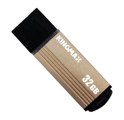 """MEMORIE USB 2.0 KINGMAX 32 GB, cu capac, carcasa aluminiu, negru / auriu, """"KM-MA06-32GB/Y"""" (include TV 0.02 lei)"""