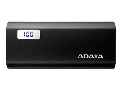 "POWER BANK ADATA 12500mAh, 2 x USB, digital display pt. status baterie, P12500D 12.500 mAh, 2.1A out, black, ""AP12500D-DGT-5V-CBK"" (include TV 0.75 lei)"