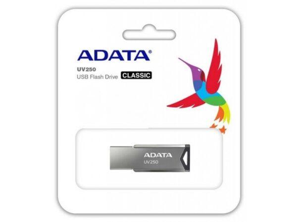 """MEMORIE USB 2.0 ADATA 16 GB, clasica, carcasa aluminiu, argintiu, """"AUV250-16G-RBK"""" (include TV 0.02 lei)"""