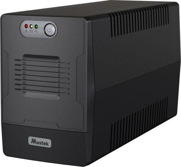 "UPS MUSTEK Line Int. fara management, 1000VA/ 600W, AVR, 4 x socket Schuko, indicatie status cu LED, 2 x baterie 12V/7Ah, Backup: 1 – 7 min., incarcare: pana la 6h, ""PowerMust 1000 EG"" ""1000-LED-LIG-T10"" (include TV 8 lei)"