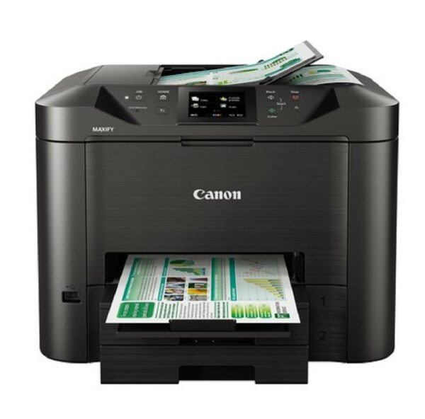"Multifunctional Inkjet Color Canon MAXIFY MB5450, A4, Functii: Impr.|Scan.|Cop.|Fax, Viteza de Printare Monocrom: 24ppm, Viteza de printare color: 15.5ppm, Conectivitate:USB|Ret, Duplex:Da, ADF:ADF(incl.TV 10RON) ""CH0971C009AA"""