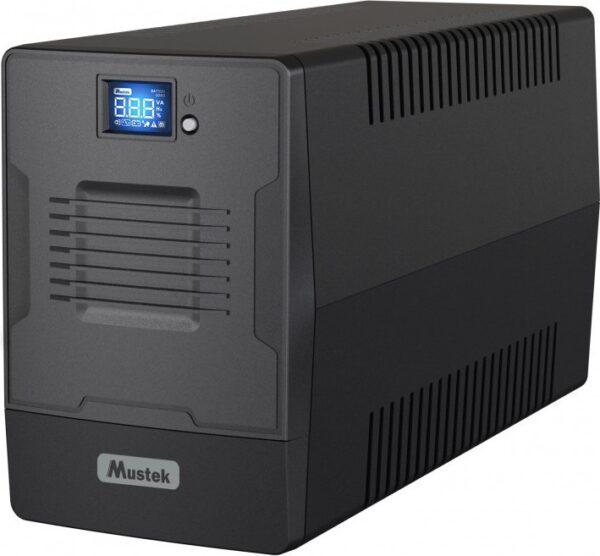 "UPS MUSTEK Line Int. cu management, LCD, 1500VA/ 900W, AVR, 2 x IEC & 2 x Shucko, display LCD, 2 x baterie 12V/9Ah, Backup 1min20s- 45min., incarc.: 6h, con. USB, combo RJ45, Fan,""PowerMust 1500 Line In. LCD""""1500-LCD-LI-T30″ (include TV 8 lei)"