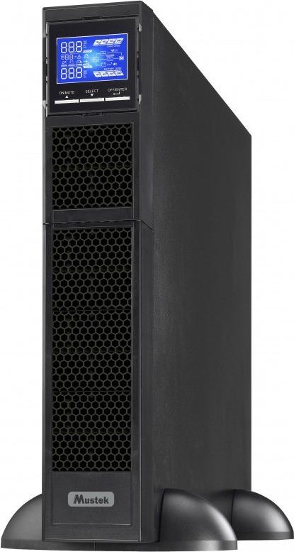 "UPS MUSTEK Online cu Sinusoida Pura, rack, 3000VA/ 3000W, AVR, 8+1 x socket IEC, display LCD, 6 x baterie 12V/9Ah, Backup 9.6min, incarc.3h, USB, RS232, dubla conversie, rack.2U,""PowerMust 3000 Online LCD RM""""3000-LCD-ON-R20″ (include TV 23 lei)"