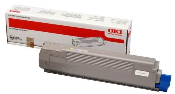 """Toner Original Oki Yellow, 44643001, pentru C801, 7.3K, incl.TV 0 RON, """"44643001"""""""