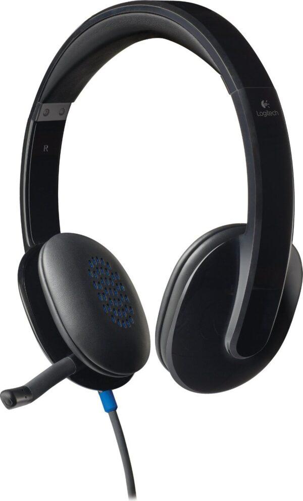 """CASTI Logitech, """"H540"""", cu fir, standard, utilizare multimedia, call center, microfon pe brat, conectare prin USB 2.0, negru, """"981-000480"""", (include TV 0.75 lei)"""