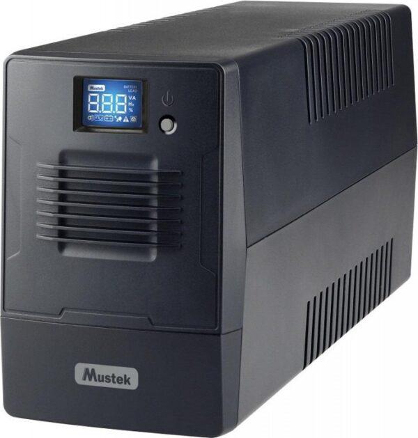 "UPS MUSTEK Line Int. cu management, LCD, 600VA/ 360W, AVR, 4 x socket IEC, display LCD, 1 x baterie 12V/7Ah, Backup: 16 min., incarcare: pana la 4h, conector USB, combo RJ11, ""PowerMust 600 Line In. LCD"" ""600-LCD-LI-T20"" ) (include TV 3 lei)"