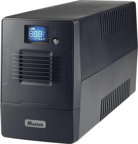 "UPS MUSTEK Line Int. cu management, LCD, 800VA/ 480W, AVR, 2 x socket Schuko, display LCD, 1 x baterie 12V/9Ah, Backup: 20 min., incarcare: pana la 4h, conector USB, combo RJ11, ""PowerMust 800 Line In. LCD"" ""800-LCD-LI-T10"" (include TV 3 lei)"