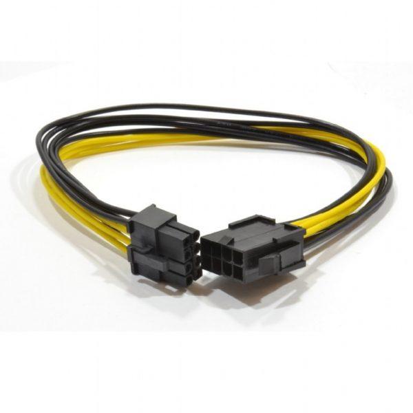 """CABLU date GEMBIRD, adaptor PCI-E (T/M), 6+2pin PCIe(T) la 6+2pin PCIe(M), 0.3m, """"CC-PSU-84"""""""