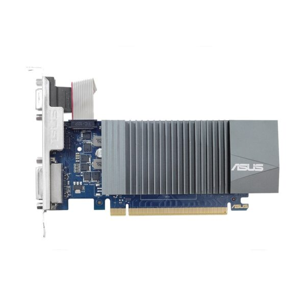 Placa video ASUS NVIDIA GeForce GT 710, GT710-SL-2GD5-BRK, PCI-E 2.0, 2GB GDDR5; Engine Clock: 954 MHz; Memory Clock: 5012 MHz; Memory Interface: 64-bit; 1x D-Sub/ DVI/ HDMI, HDCP Support, Recommended PSU: 300W
