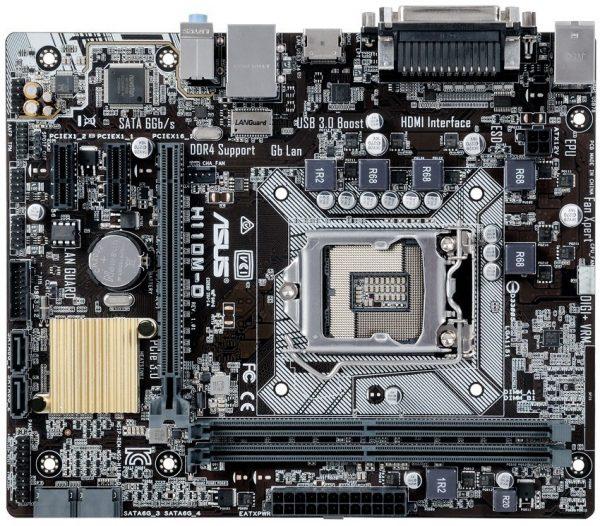 Placa de baza ASUS skt. LGA1151, H110M-D, 2*DDR4 2133 MHz, Multi-VGA output support : HDMI/RGB ports, 1*HDMI, 1*D-Sub, 1*PCIe 3.0/2.0×1, 2 *PCIe 2.0×1, 4*SATA 6Gb/s, Realtek RTL8111H, 4*USB 3.0/2.0, 6*USB 2.0/1.1, ATX