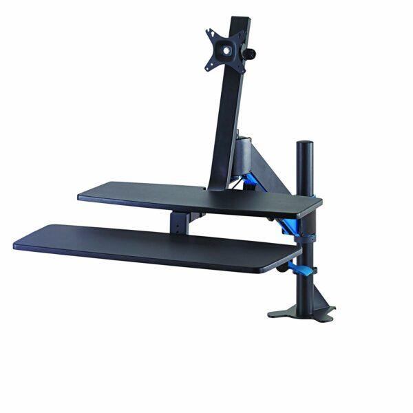 "SUPORT de birou KENSINGTON, pt 1 TV/monitor plat, diag. max 27 inch, rotatie, inclinare, pivotare, orizontala, verticala, totala, max 11 Kg, ""K55792WW"""