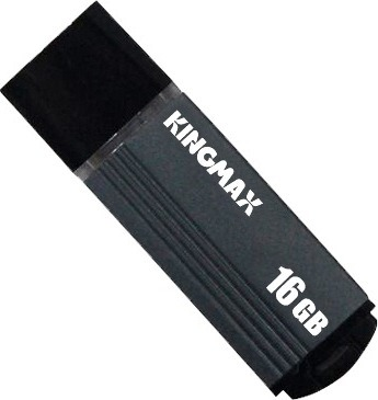 "MEMORIE USB 2.0 KINGMAX 16 GB, cu capac, carcasa aluminiu, negru / gri, ""KM-MA06-16GB/GY"" (include TV 0.02 lei)"