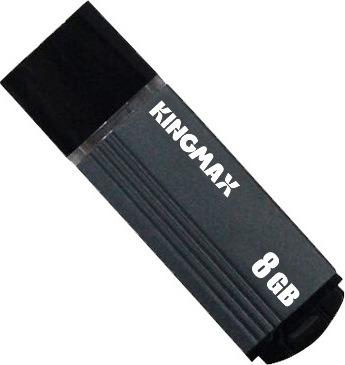 "MEMORIE USB 2.0 KINGMAX 8 GB, cu capac, carcasa aluminiu, negru / gri, ""KM-MA06-8GB/GY"" (include TV 0.02 lei)"