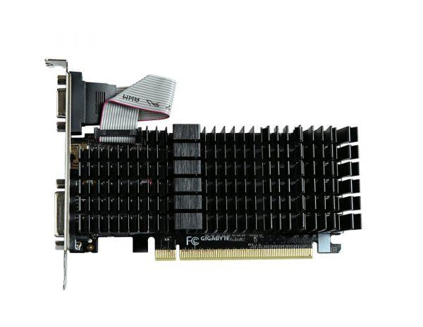 Placa video GIGABYTE NVIDIA GeForce GT 710, N710SL-1GL, PCI-E, 1024MB DDR3, 64bit, 954MHz, 1800MHz, VGA, DVI, HDMI, HEATSINK