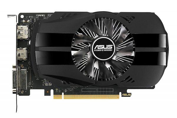 Placa video ASUS NVIDIA GeForce GTX 1050, PH-GTX1050-2G, PCI-E 3.0, 2GB GDDR5, 128 bit, Base/Boost clock:1354 MHz/1455 MHz, Memory Clock: 7008 MHz, DVI, HDMI, DP, HDCP, ASUS GPU Tweak II & Driver, Cooling Active: 1